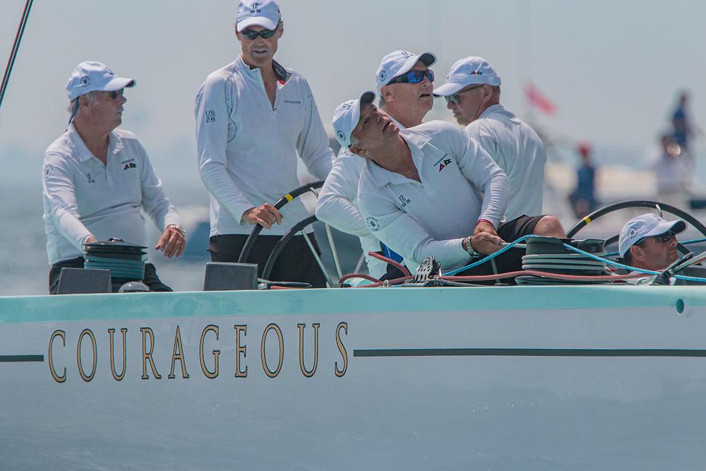 "US 26CourageousRalph Isham / Steve Glascock / Alexander Auersperg / Ward MarshNYYC""Newport, RI, USA""12 Metre65<br /> <br /> 2019 12 Metre World Championship"