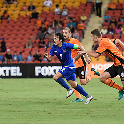 BRISBANE, AUSTRALIA - JANUARY 31: Misagh Bahadoran of Global FC in action during the second qualifying round of the Asian Champions League match between the Brisbane Roar and Global FC at Suncorp Stadium on January 31, 2017 in Brisbane, Australia. (Photo by Patrick Kearney/Brisbane Roar)