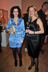 Left to right, MOLLIE DENT-BROCKLEHURST and IWONA BLAZWICK director of the Whitechapel Gallery at the TOD'S Art Plus Drama Party at the Whitechapel Gallery, London on 24th March 2011.