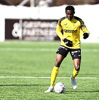 Fotball ,  OBOS-Ligaen<br /> 07.04.19<br /> Nammo Stadion<br /> Raufoss v Sandefjord  0-2<br /> Foto :  Dagfinn Limoseth , Digitalsport<br /> Emile Noe Dadjo , Raufoss
