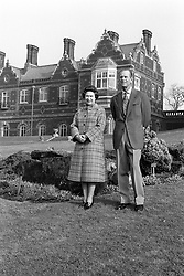 Queen Elizabeth II and the Duke of Edinburgh posing in the grounds of Sandringham House, Norfolk, to mark the 30th anniversary of the Queen's accession to the throne.