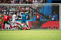 June 20, 2018 - Moscow, Russia - 180620 Cristiano Ronaldo of Portugal scores 1-0 during the FIFA World Cup group stage match between Portugal and Morocco on June 20, 2018 in Moscow..Photo: Petter Arvidson / BILDBYRÃ…N / kod PA / 92072 (Credit Image: © Petter Arvidson/Bildbyran via ZUMA Press)