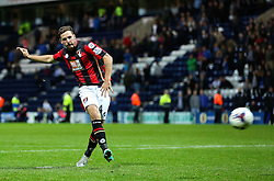 Dan Gosling of Bournemouth takes a penalty in the shoot out - Mandatory byline: Matt McNulty/JMP - 07966386802 - 22/09/2015 - FOOTBALL - Deepdale Stadium -Preston,England - Preston North End v Bournemouth - Capital One Cup - Third Round