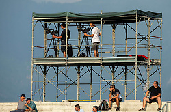 Cameraman during football match between NK Triglav and NK Celje in 7th Round of Prva liga Telekom Slovenije 2019/20, on August 25, 2019 in Sports park, Kranj, Slovenia. Photo by Vid Ponikvar / Sportida