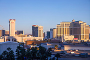 The Las Vegas Strip with Hotels and Casinos, Las Vegas, Nevada, USA