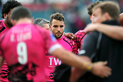 Olly Barkley of London Welsh looks dejected at the final whistle - Photo mandatory by-line: Patrick Khachfe/JMP - Mobile: 07966 386802 25/04/2015 - SPORT - RUGBY UNION - Leicester - Welford Road - Leicester Tigers v London Welsh - Aviva Premiership