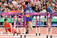LONDON OLYMPIC GAMES 2012 - OLYMPIC STADIUM , LONDON (ENG) - 07/08/2012 - PHOTO : STEPHANE KEMPINAIRE / POOL / KMSP / DPPI<br /> ATHLETICS -  MEN'S 110 M HURDLES - LIU XIANG (CHN)