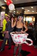 STORM IS A TEACUP-SERENA MATTAR, Premiere of 'The British Guide to Showing Off' Jes Benstock's documantary on Andrew Logan's life and 12 Alternative Miss World's. Prince Charles cinema, Leicester Place. London and afterward's at Moonlighting, Greek St. London. 6 November 2011. <br /> <br />  , -DO NOT ARCHIVE-© Copyright Photograph by Dafydd Jones. 248 Clapham Rd. London SW9 0PZ. Tel 0207 820 0771. www.dafjones.com.
