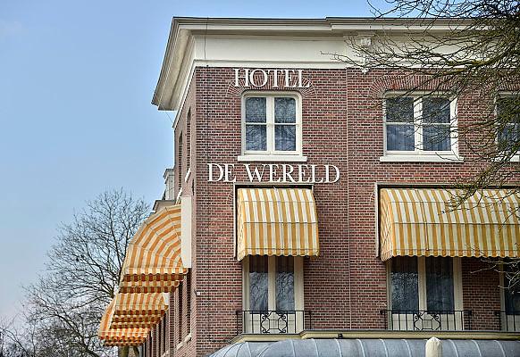Nederland, Wageningen, 13-3-2013Hotel de Wereld, een nationaal bekende plek. Hier werd in mei 1945 de overgave in nederland van de duitsers getekend. De Canadese Generaal Foulkes en prins Bernhard waren er ook.Foto: Flip Franssen/Hollandse Hoogte