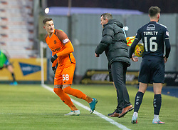 Dundee United's Emil Lyng on as a sub. Falkirk 6 v 1 Dundee United, Scottish Championship game played 6/1/2018 played at The Falkirk Stadium.