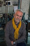 John Monks in his studio in Clapham. London.  23 June 2015