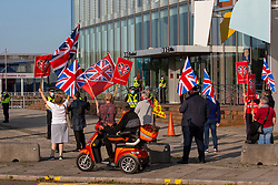 17SEP20 Counter demo at the BBC. All Under One Banner demo outside the BBC at Pacific Quay.