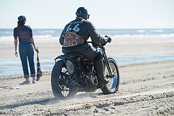 Andrew Wood on his 1929Harley-Davidson / JD Racer at the Race of Gentlemen. Wildwood, NJ, USA. October 11, 2015.  Photography ©2015 Michael Lichter.