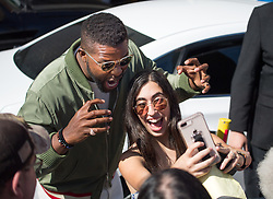 Winston Duke is seen at 'Jimmy Kimmel Live' in Los Angeles, California. NON EXCLUSIVE April 26, 2018. 26 Apr 2018 Pictured: Winston Duke. Photo credit: RB/Bauergriffin.com / MEGA TheMegaAgency.com +1 888 505 6342