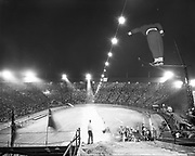Rose Festival ski jumps and show at Multnomah Stadium the nights of June 7-8, 1951