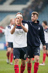 Falkirk's Will Vaulks and Falkirk's Rory Loy at the end.<br /> Dundee 0 v 1 Falkirk, Scottish Championship game played today at Dundee's Dens Park.<br /> © Michael Schofield.