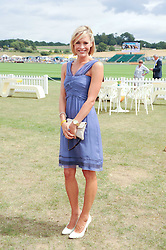 JENNI FALCONER at the Veuve Clicquot Gold Cup polo final held at Cowdray Park, Midhurst, West Sussex on 18th July 2010.