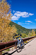 Bicycle on the San Juan Skyway (Highway 145), San Juan National Forest, Colorado