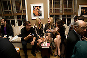 LUCA GIUSSANI; SARAH COLOM; EHA URBSALU; CECILIA DE CHARMKAN. Party hosted by Franca Sozzani and Remo Ruffini in honour of Bruce Weber to celebrate L'Uomo Vogue The Miami issuel by Bruce Weber. Casa Tua. James Avenue. Miami Beach. 5 December 2008 *** Local Caption *** -DO NOT ARCHIVE-© Copyright Photograph by Dafydd Jones. 248 Clapham Rd. London SW9 0PZ. Tel 0207 820 0771. www.dafjones.com.