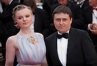 Actress Maria Dragus and director Crisitan Mungiu at the Closing Palm D'Or Awards Ceremony at the 69th Cannes Film Festival, Sunday 22nd May 2016, Cannes, France. Photography: Doreen Kennedy