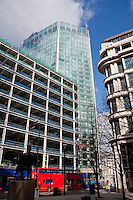 construction in the city of london england in march 2008