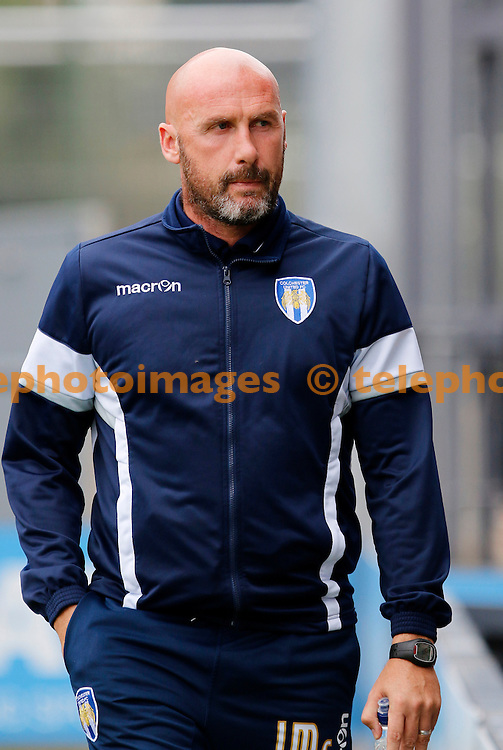 Colchester United manager, John McGreal seen during the Sky Bet League 2 match between Barnet and Colchester United at Underhill Stadium in London. September 17, 2016.<br /> Carlton Myrie / Telephoto Images<br /> +44 7967 642437
