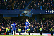 Cesc Fabregas of Chelsea looks to the sky dejected after Kevin Mirallas of Everton scores his sides 2nd goal to make it  0-2. Barclays Premier league match, Chelsea v Everton at Stamford Bridge in London on Saturday 16th January 2016.<br /> pic by John Patrick Fletcher, Andrew Orchard sports photography.