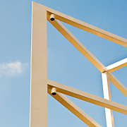 Low angle view of a wooden structure