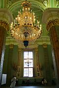 Chandelier in the Peter and Paul Fortress, St. Petersburg. Russia