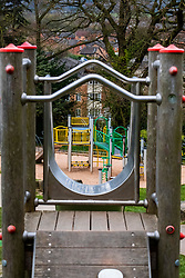 Empty Childrens Playground Chapeltown park Sheffield Monday 30 March 2020 Open air Gym equipment 7 Days after emergency measures were announced by Prime minister Boris Johnson on the evening of  Monday 23rd March<br /> <br /> 30 March 2020<br /> <br /> www.pauldaviddrabble.co.uk<br /> All Images Copyright Paul David Drabble - <br /> All rights Reserved - <br /> Moral Rights Asserted -