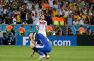 Germany's Mario Götze celebrates at full time during the 2014 FIFA World Cup Final match at Maracana Stadium, Rio de Janeiro<br /> Picture by Andrew Tobin/Focus Images Ltd +44 7710 761829<br /> 13/07/2014