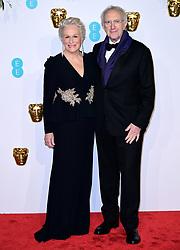 Glenn Close and Jonathan Pryce attending the 72nd British Academy Film Awards held at the Royal Albert Hall, Kensington Gore, Kensington, London.