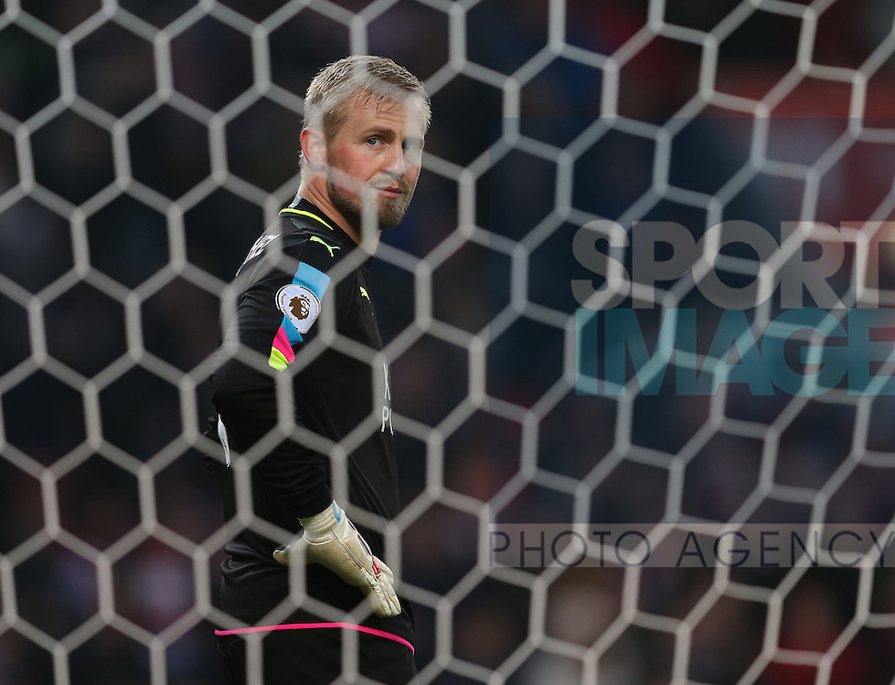 Kasper Schmeichel of Leicester City during the English Premier League match at the Bet 365 Stadium, Stoke on Trent. Picture date: December 17th, 2016. Pic Simon Bellis/Sportimage