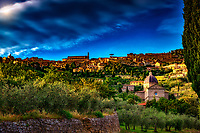 """Evening above Santa Maria delle Grazie in Cortona""…<br />