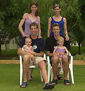 2002 World Rowing Championships - Seville - SPAIN..Bridget and James Tomkins - daughter Jessica.Drew and Melanine Ginn - daugther Kyra. [Mandatory Credit: Peter SPURRIER/Intersport Images]<br /> <br /> 20020921 World Rowing Championships Seville, SPAIN