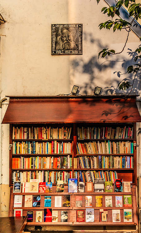 The bookstore Shakespeare and Company in Paris, France. American George Whitman kept the shop for 50 years.