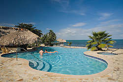 Pool at Jaguar Reef Lodge, Hopkins, Stann Creek District, Belize, Central America   PR, MR