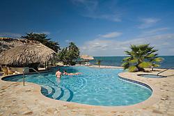 Pool at Jaguar Reef Lodge, Hopkins, Stann Creek District, Belize, Central America   PR, MR