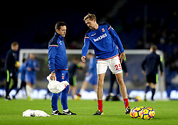 Stoke City's Peter Crouch warms-up before kick-off