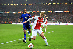 24 May 2017 - UEFA Europa League Final - Ajax v Manchester United - Marcus Rashford of Manchester United in action with Matthijs de Ligt of Ajax - Photo: Marc Atkins / Offside.