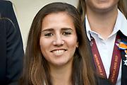 Koning Willem-Alexander ontvangt op Paleis Noordeinde de dames van het Nederlands team vrouwenvoetbal.<br /> <br /> King Willem-Alexander receives the ladies of the Dutch team women's football at Noordeinde Palace.<br /> <br /> Op de foto:  Lieke Martens