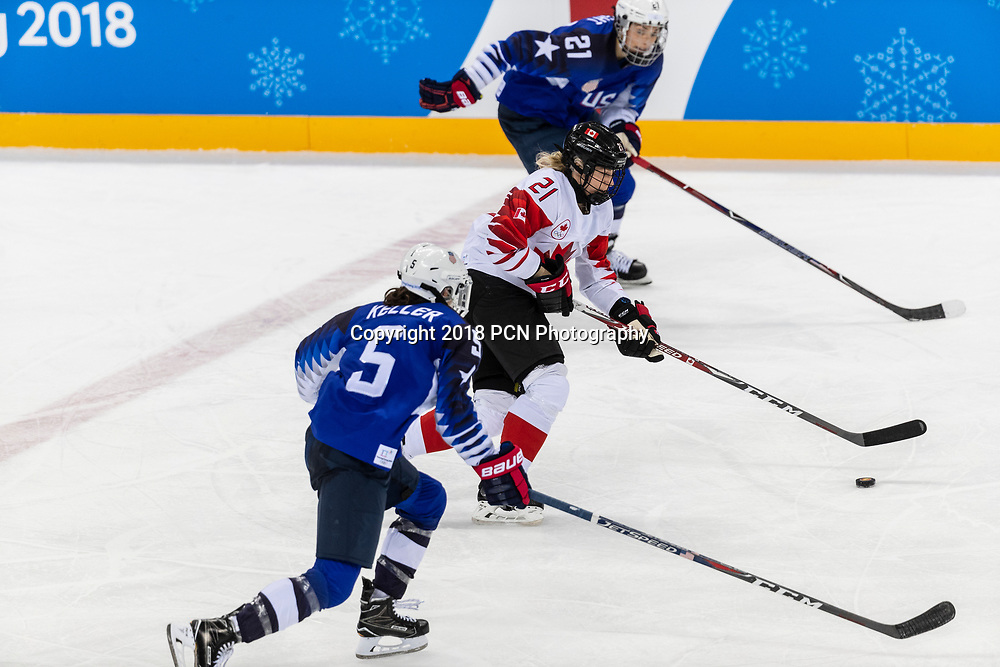 Renata Fast (CAN) during the Gold medal Women's Ice Hockey game USA vs Canada at the Olympic Winter Games PyeongChang 2018