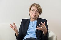 03 SEP 2018, BERLIN/GERMANY:<br /> Elke Buedenbender, Juristin und Gattin des Bundespraesidenten, wahrend einem Interview, in Ihrem Buero, Schloss Bellevue<br /> IMAGE: 20180903-01-010<br /> KEYWORDS: Elke Büdenbender, First Lady