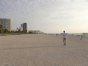 Man jogging by himself early morning Miami USA