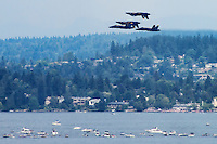 Blue Angels Perform over Lake Washington
