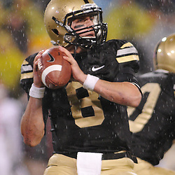 Oct 23, 2009; West Point, N.Y., USA; Army quarterback Trent Steelman (8) sets to throw during Rutgers' 27 - 10 victory over Army at Michie Stadium.