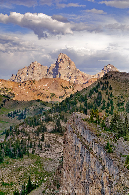 The Teton Range and the Jedediah Smith Wilderness seen from the West, Caribou-Targhee National Forest, Idaho
