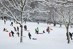 Snow scene in Woodthorpe Park, Nottingham, December 2010