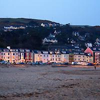 Europe, United Kingdom, Wales, Aberdyfi. Beach of Aberdovey, Wales.