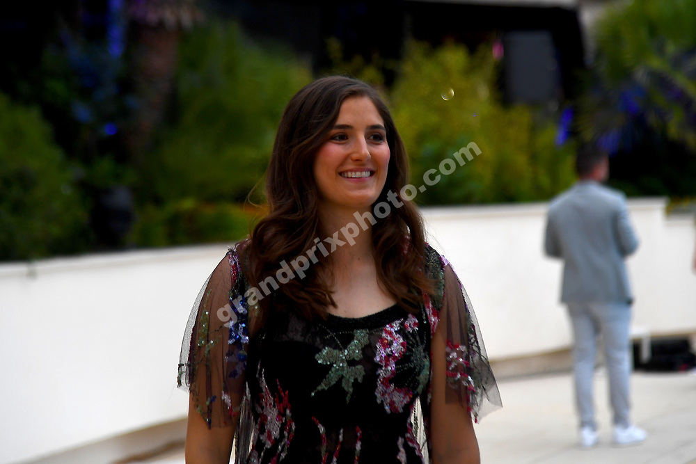 Tatiana Calderon (Sauber) at Amber Lounge fashion show before the 2019 Monaco Grand Prix. Photo: Grand Prix Photo